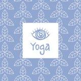 三只眼瑜伽演播室设计卡片 库存图片