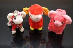 三只石山羊带来新的起点 库存照片