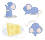 三只蓝色老鼠 免版税库存图片
