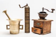 三台葡萄酒研磨机 免版税图库摄影