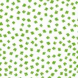 三叶草叶子爱尔兰运气色的背景 免版税库存图片
