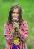 三叶草和女孩 图库摄影