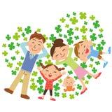 三叶草和家庭 库存图片