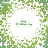 三叶草圈子样式和背景为圣帕特里克` s天 免版税库存照片