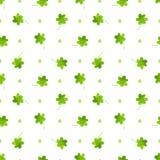 三叶草样式 无缝传染媒介的水彩 库存图片