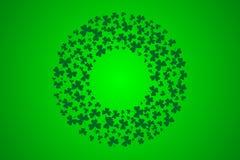三叶草框架 圣帕特里克天贺卡的传染媒介例证 免版税库存图片