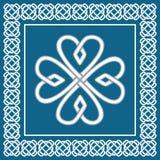 三叶草-凯尔特结,传统爱尔兰标志,传染媒介 库存照片