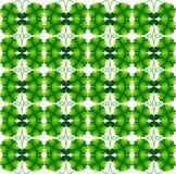 三叶草  祝好运符号 无缝的模式 皇族释放例证