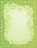 三叶草绿色漩涡边界 免版税库存图片