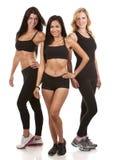 三名健身妇女 免版税库存图片