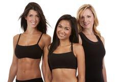 三名健身妇女 库存照片
