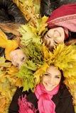 三名快乐的妇女 库存图片