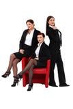 三名性感的女实业家 免版税库存照片
