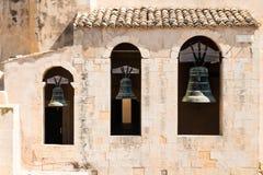 三响铃在诺托,西西里岛 免版税图库摄影