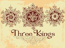 三国王 库存照片
