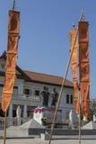 三国王Monument -清迈-泰国 库存图片