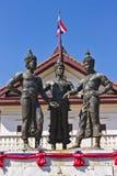 三国王Monument,清迈 免版税图库摄影