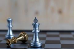 三国际象棋棋局在船上 免版税库存图片