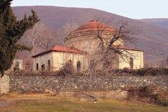 三圣徒教会在Sheki市,阿塞拜疆 免版税库存照片