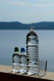 三块塑料瓶和玻璃 图库摄影