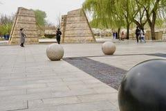 三块大理石在右角的大理石染黑 库存照片