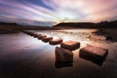 三块峭壁海湾垫脚石 库存照片