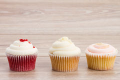 三块杯形蛋糕 免版税库存图片