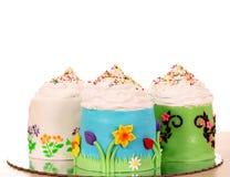 三块甜杯形蛋糕 免版税库存图片