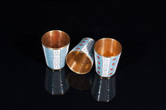 三块金金属玻璃 免版税图库摄影