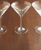 三块马蒂尼鸡尾酒玻璃 免版税库存图片
