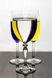 三块玻璃,三条纹 免版税库存图片