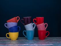 三堆咖啡不同的颜色  免版税图库摄影