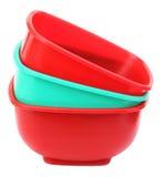 三塑料碗 库存图片