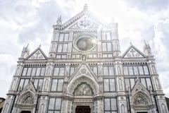 三塔Croce在佛罗伦萨,意大利 库存图片