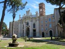 三塔Croce在Gerusalemme,罗马 免版税图库摄影
