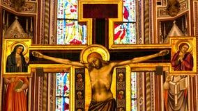 三塔Croce教会的佛罗伦萨说明录影  股票视频