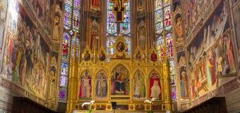 三塔Croce,佛罗伦萨,意大利大教堂  免版税图库摄影