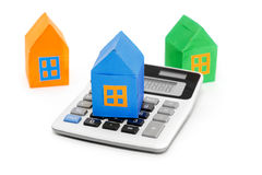 三多彩多姿的房子 免版税库存图片
