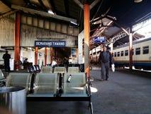 三宝垄Tawang火车站,印度尼西亚 图库摄影