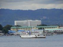 三宝颜海港,菲律宾 免版税库存照片