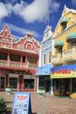 三家商店在Oranjestad,阿鲁巴 免版税库存图片