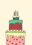 三层的蛋糕 免版税库存照片