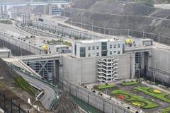 三峡大坝,中国 图库摄影