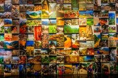 三峡显示的`三峡`记忆墙壁历史霍尔在重庆三峡博物馆 免版税库存图片