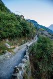 三峡Dengying空白的湖北夷陵三峡在三峡路的 免版税库存图片