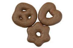 三巧克力姜饼 库存图片