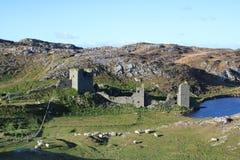 三座城堡顶头西部黄柏爱尔兰 库存图片
