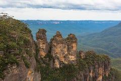 三座姐妹山在蓝山山脉国家公园,南方 图库摄影