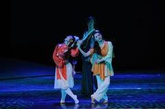三我们是走的together-The舞蹈戏曲神鹰英雄的传奇 免版税库存图片