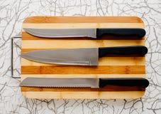 三把刀子 免版税库存照片